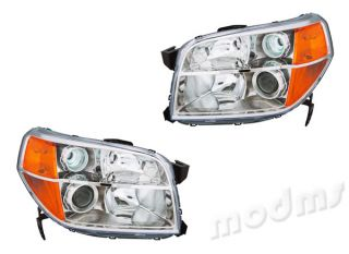 Fits 2006 2008 Honda Pilot Clear Head Light Headlight Lamp Unit 1 Pair
