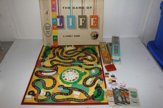 Vintage Life Board Game 1960 Art Linkletter Complete