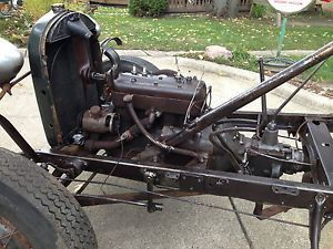 Model A Ford Chassis Engine Transmission Front and Rear Axle Frame Ect