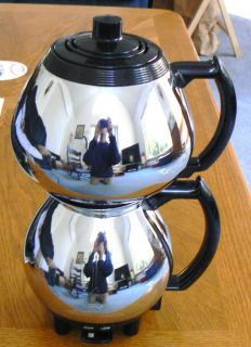 Sunbeam Art Deco Double Bowled Coffee Maker 1930's Beautiful Shape