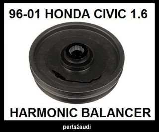 Harmonic Balancer Pulley Serpentine Fits 1996 2001 Honda Civic Del Sol 1 6 L