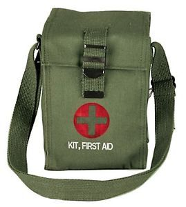 US Military Army Marines USMC Platoon Leaders Canvas 1st First Aid Kit Bag Pouch