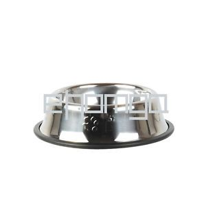 Stainless Steel Pet Dog Cat Water Food Feeder Bowl Dish Non Skid 2 12x16cm