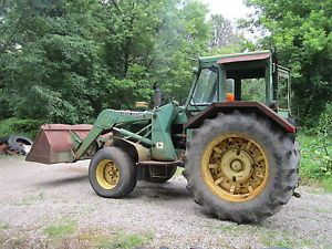 John Deere 600 Loader Tractor with 3POINT J D 4020 Diesel Engine Cab J D Look