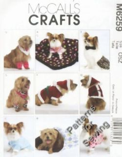 Pattern Sewing McCalls Pet Dog Clothes Coats Leggines Santa Collar s XL New