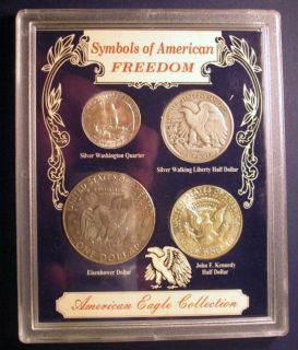Symbols of American Freedom Eagle Collection 4 Coin Set Silver 7029