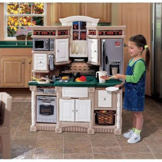 Step2 Lifestyle Dream Kitchen Kids Pretend Toy Play House Food Cooking 37pc New