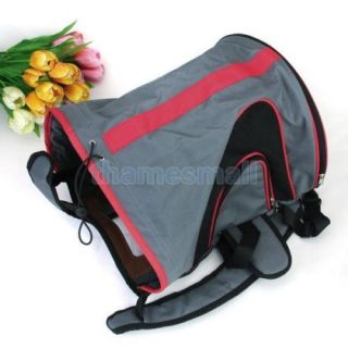 Pet Cat Dog Puppy Travel Bag Front Carrier Tote Grey