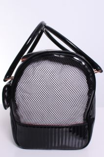 Ted Baker Canine Quilted Enamel Dog Bag Carrier in Black
