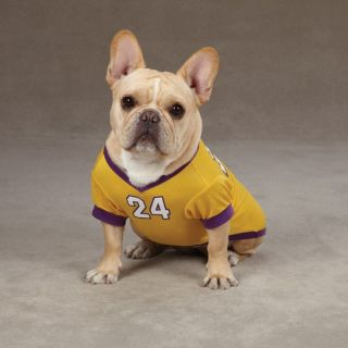 24 Kobe Bryant Dog Jersey La Lakers NBA Pet Puppy Mesh T Shirt Clothes Apparel