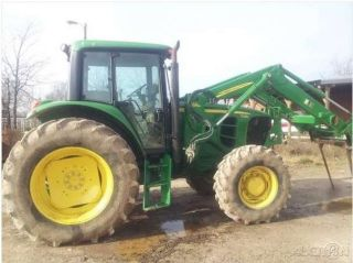 2009 John Deere 7130 Tractor and John Deere 731 Loader Texas