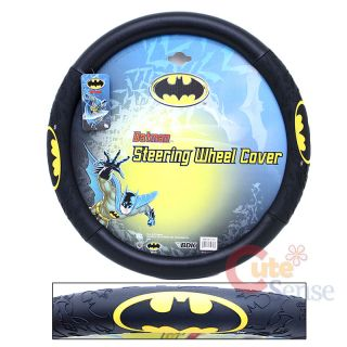 Marvel Batman Auto Car Steering Wheel Cover Color Logo
