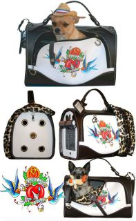 Dog Carrier Pet Flys Puppy Love Forever Leopard Tattoo Style