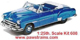 Chevy Bel Air Convertible AMT1951 1 25 Scale Item 608 Model Kit By amt