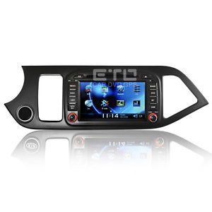 ETO Kia Morning Picanto 7'' Stereo Headunit Car GPS Navigation DVD Autoradio Nav