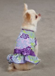 Dog Hibiscus Print Dress Zack Zoey Pet Sundress Dog