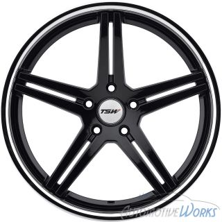 18x10 5 TSW Mirabeau 5x120 27mm Gloss Black Chrome Rims Wheels inch 18""