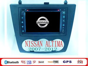 Nissan Altima Car DVD GPS Navi Player 07 2012 Altima Car DVD Player iPod BT GPS