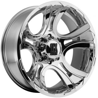 "22x11"" 6x5 5 44mm Chrome KMC XD Crank Wheels Rims Chevy GMC 1500 Nissan Toyota"