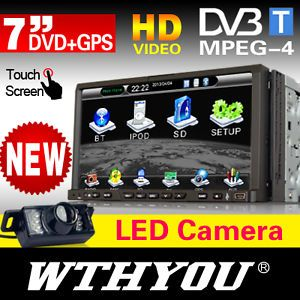"W 213 7"" Double DIN HD Car GPS DVD Player HD DVB T MPEG 4 LED Reversing Camera"