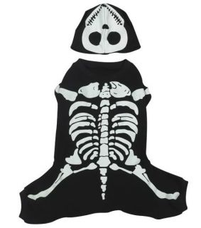 Casual Canine Glow Bones Skeleton Halloween Dog Costume