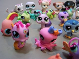 50 Littlest Pet Shop Figures LPS Mixed Lot RARE Cat Some Farm Exotic Sea Life