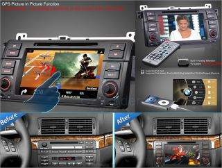 BMW 3 E46 Series Special Car DVD Player GPS Navigation Radio Stereo System 4G TF