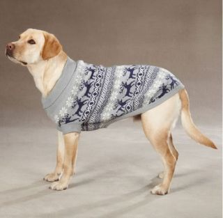East Side Collection Caribou Creek Dog Turtleneck Sweater Pet Black Gray XXS XL