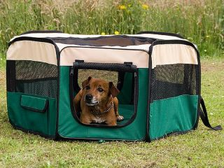"45"" Large 8 Panel Pet Dog Puppy Enclosure Exercise Soft Play Pen Tent Portable"