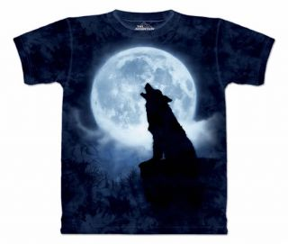 Wolf T Shirt Adult Wolves Wolfe Pack Howling M L XL