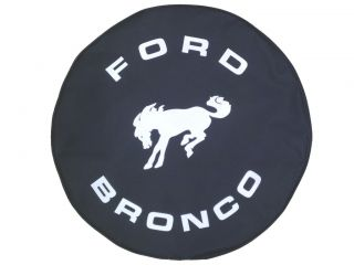 Sparecover® Brawny Series Ford Bronco 27 Black Denim Textured Vinyl Tire Cover
