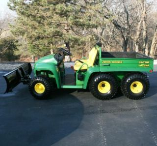 2003 John Deere Gator 6x4 6' Plow Electric Dump Chain Driven 4 Wheel Drive