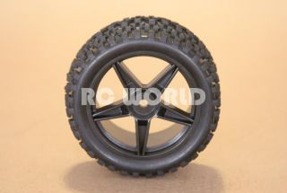RC 1 10 Buggy Rims Tires Wheels Kyosho Tamiya Wide Block
