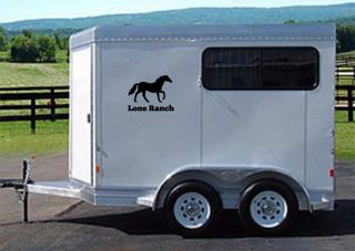 Personalized Horse Trailer Decal with Ranch Name Sticker Float Stable
