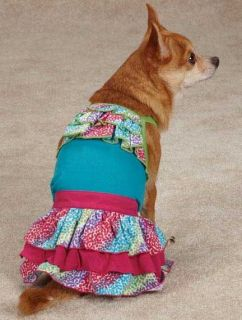 Confetti Tank Top T Shirt Dog Tee Shirt and or Confetti Skirt Ruffles East Side