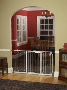 Walk thru Baby Pet Safety Secure Extra Wide Gate Door