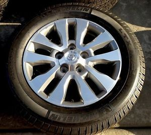 "20"" Toyota Tundra Sequoia 10 Spoke Wheels Rims Michelin Tires"