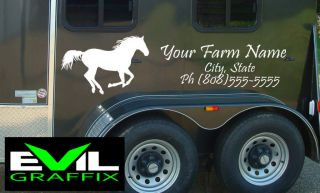Horse Stickers for Truck Trailer Farm Decals Farm Truck Name Farm Signage