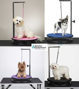 Master Equipment Round Rotating Small Pet Dog Cat Grooming Table Arm Clamp Loop