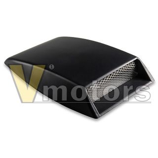 Black Air Flow Intake Grille Mesh Vent Turbo Bonnet Scoop Hood Truck SUV Truck