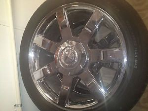"22"" Cadillac Escalade Chrome Wheels Rims Tires"