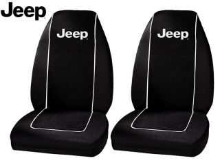 Jeep Original Seat Covers Fits All Jeeps Polyester 1 Pair High Back Seat Covers