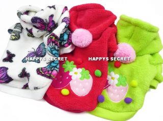 Dog Clothes Fleece Coat Jacket Bunny Duck Kitty Monkey