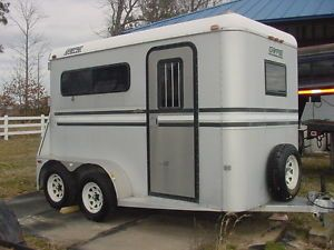 1989 Gore Aluminum Deluxe Two Horse Thoroughbred Trailer
