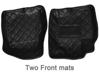 Bestek All Weather 5 Peice Carpet Floor SUV Mat Set Nissan Rogue 4 D Sedan Black