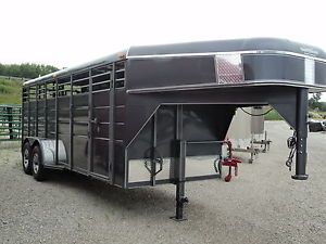 20' Gooseneck Stock Horse Trailer Heavy Duty Inventory BLOWOUT Sale Save $$$