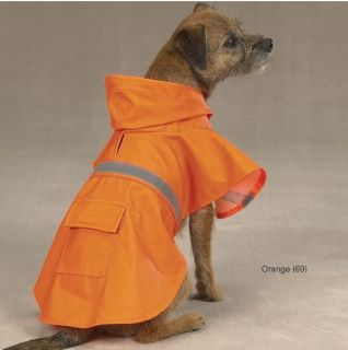Dog Rain Coat Jacket Pet Waterproof Reflective Raincoat 4 Colors 6 Sizes