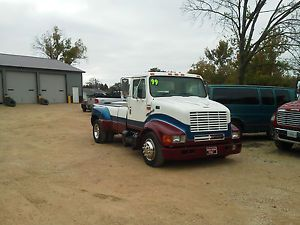 1999 International 4700 Diesel Dually Custombuilt Race Car Horse Trailer Hauler
