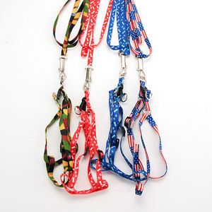 Pet Dog Cat Adjustable Print Rope Small Rope Lead Leash Harness Chest Strap 1cm