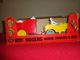 1957 Ideal Roy Rogers Horse and Trailer